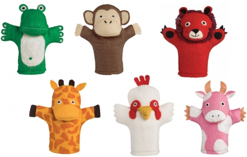 How cute are these wonderfully imaginative glove puppets