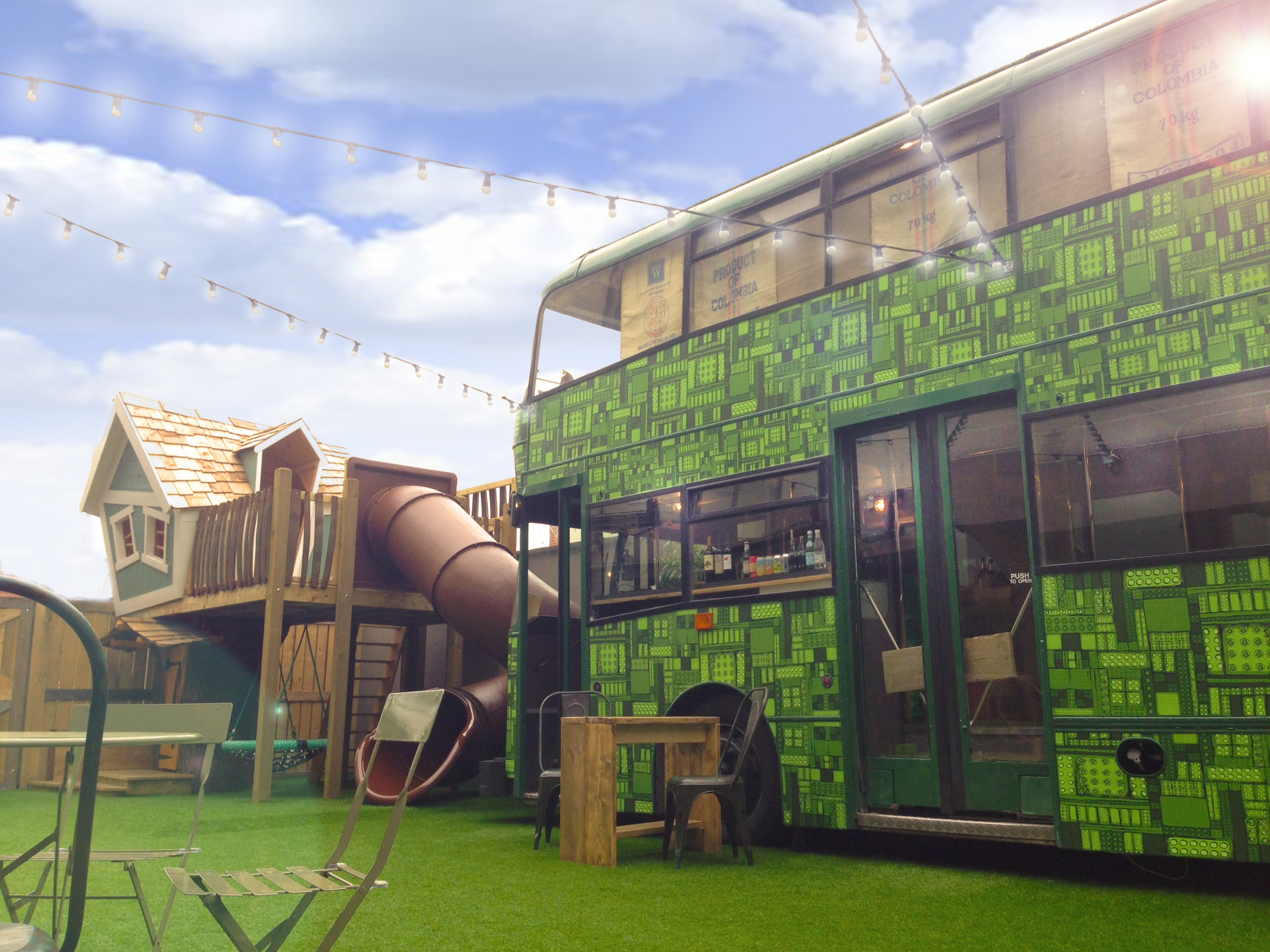 Boogie Bus and treehouse