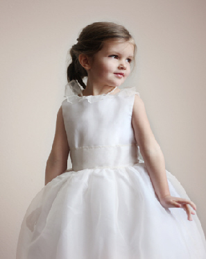 Little Eglantine's Chloe Silk Organza Flower Girl Dress