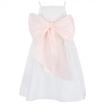 Alex and Alexa's US Angels Tafetta Dress with Blush Sash
