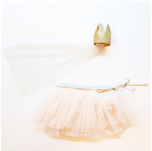 My Little Day's Gold Tutu and Crown