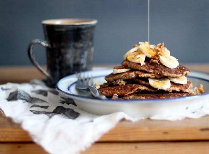 My New Roots Gluten-Free Banana Bread Pancakes