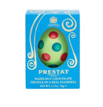 Polka Dot Egg Hazelnut Chocolate Truffle