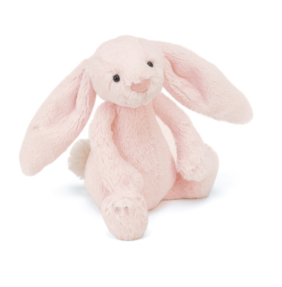 Bashful Pink Bunny Rattle by Jellycat