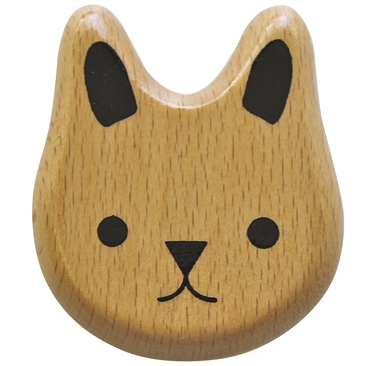 Wooden Cat Rattle by JoJo Maman Bebe