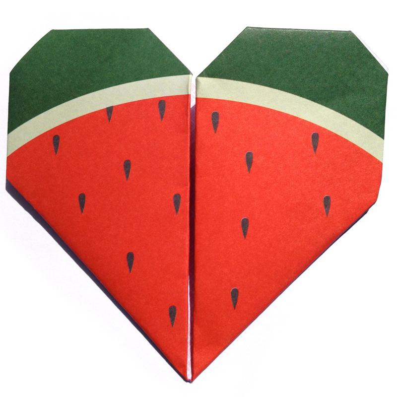 watermelonorigaminotefolded