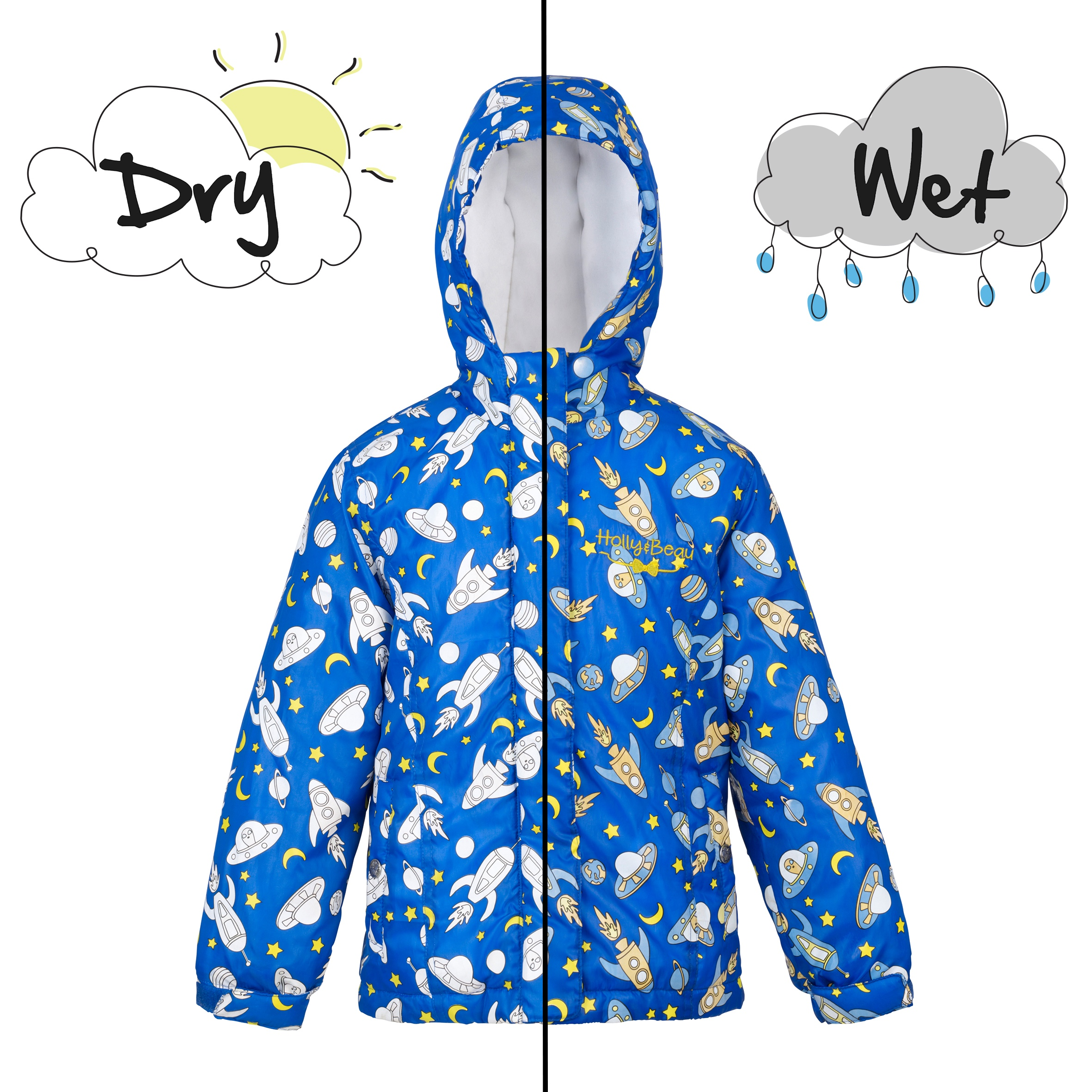 Boys space coat wet and dry
