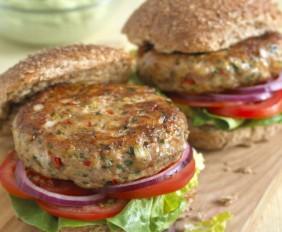 Jane Clarke's Spicy Turkey Burgers