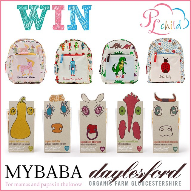 For a chance to win this fab #plchildminirucksack filled with the new range of delicious #daylesford #minimeals click this link  https://www.facebook.com/PinkLining?fref=ts #healthyseptember #eattobehealthy #funfriday @casiebamford @pinklining @rufusbpearl