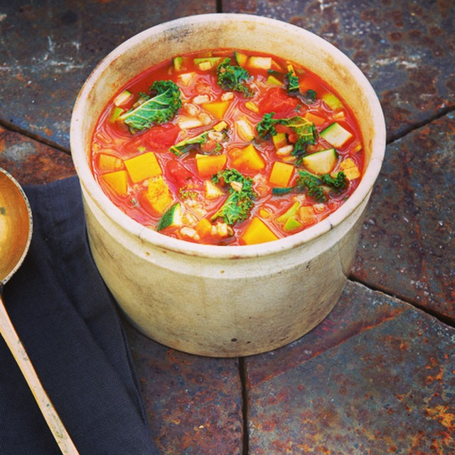My favourite thing to cook this month is @daylesfordfarm ten vegetable and two grain #minestrone #soup from #aloveforfood #delicious #nutritious #healthy #healthyseptember #mybaba