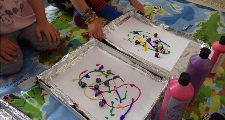 Marble Painting For Kids Toddlers