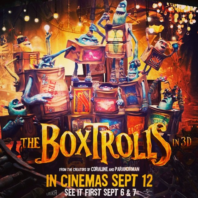 The Box Trolls are coming and we can't wait! #boxtrolls #familycinema