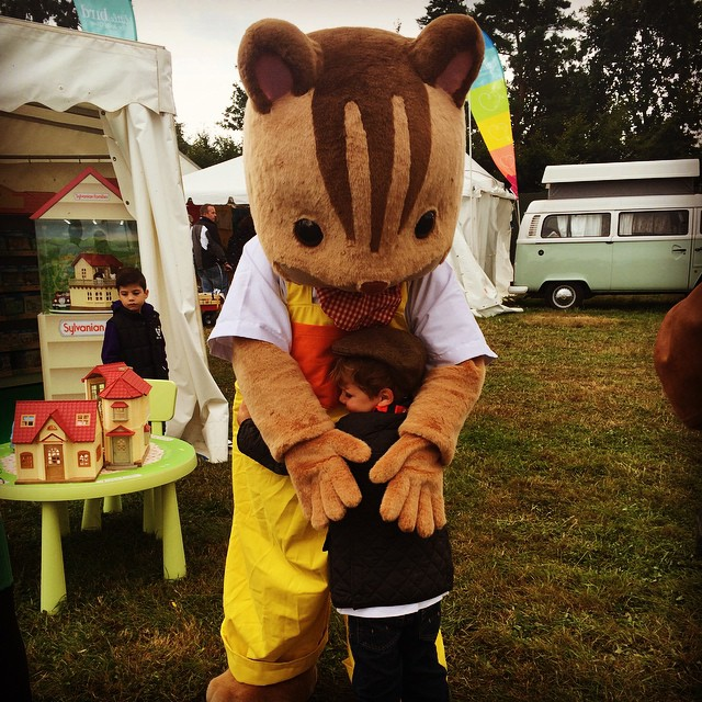 You never know who you might come across at @thebigfeastival  #sylvanians  #bigfeastival