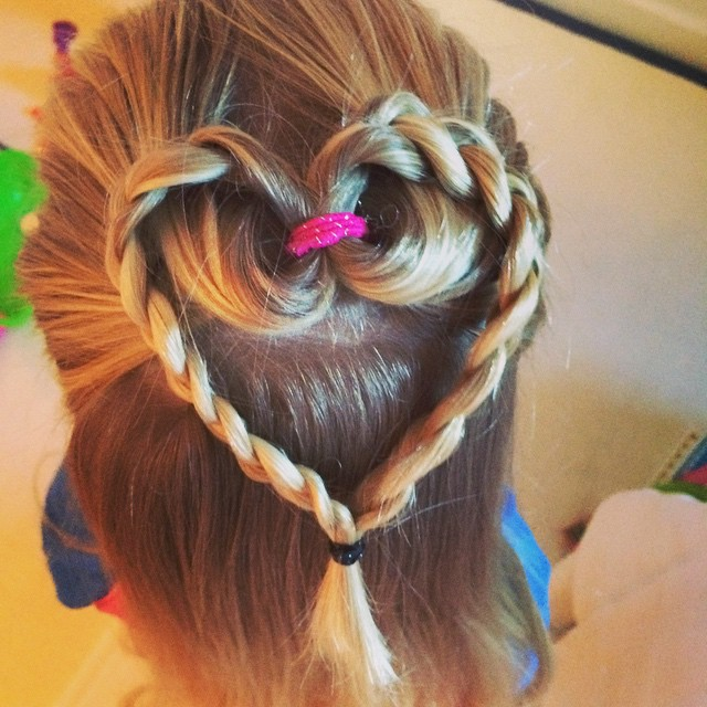 We've got some great #childrenshairstyles on #mybaba coming out. This #heart is gorgeous! #nannyanita