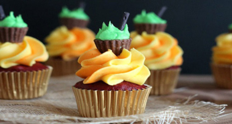Mini Cauldron Cupcakes