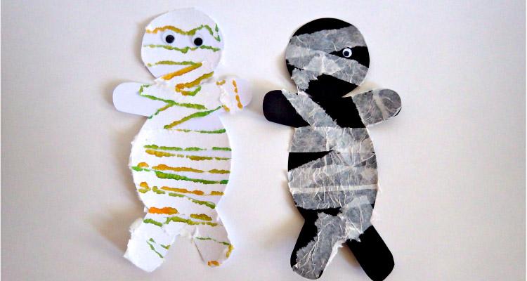 halloween mummy craft