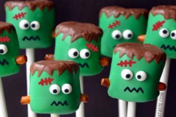 Spooooky Frankenstein Marshmellow Pops Recipe