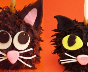 Spooy Chocolate Caramel Apple Cats
