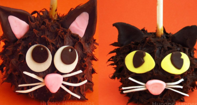 Spooy Chocolate Caramel Apple Cats