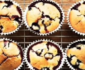 The Food Stork's Blackberry & Stem Ginger Muffins