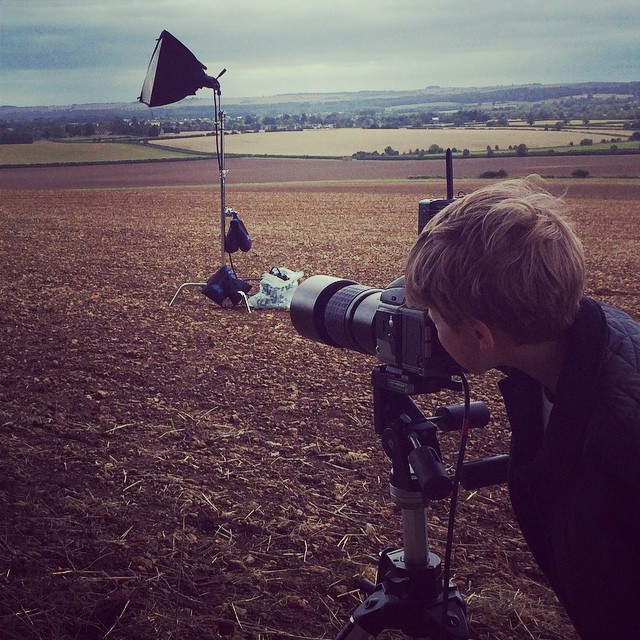 Like father like son! My big baba shooting our Christmas card. #Christmas #photographer #shoot  #lightscameraaction