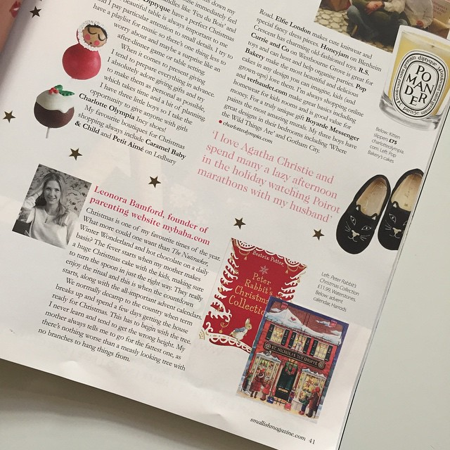 Glad to see I'm in good company with my #alliwantforchristmas piece in the latest @smallish_magazine #decemberissue  thank you @estelle_smallishmagazine it looks fab! Can't wait to read the magazine tonight!! Feeling festive already. @charlotte_olympia #joloves @alexandalexacom @anyahindmarch @libertylondon @laurabaileylondon ❤️
