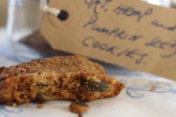 Date Hemp and Pumpkin Seed Cookies