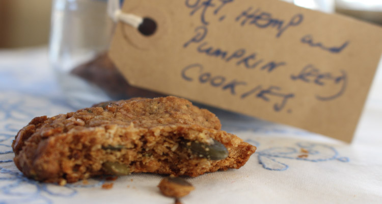 Date Hemp and Pumpkin Seed Cookies