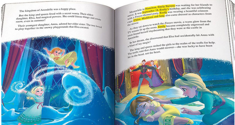 Win a Frozen Personalised Book