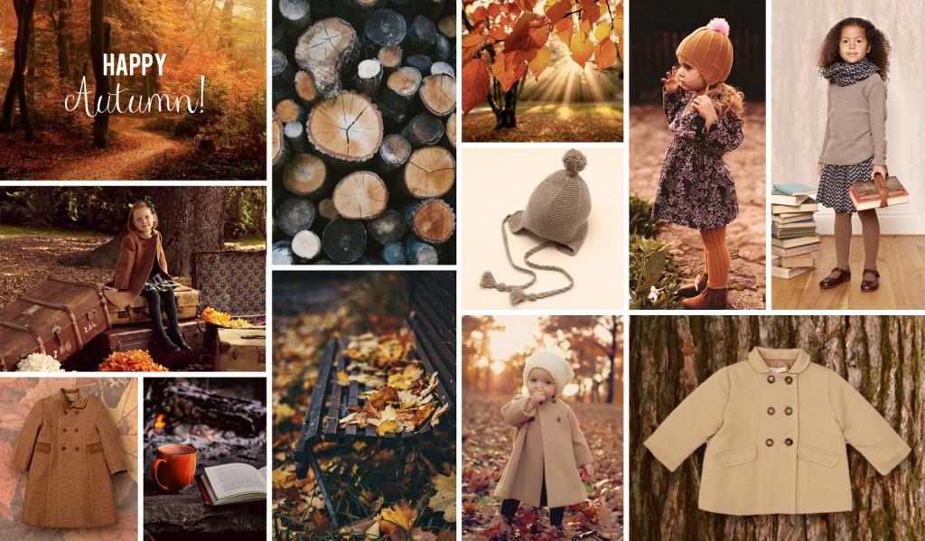 Happy Autumn Collage Landscape