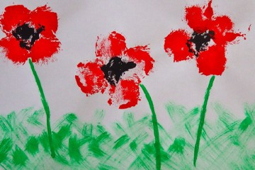 Remembrance Day Poppy Field Craft for Kids