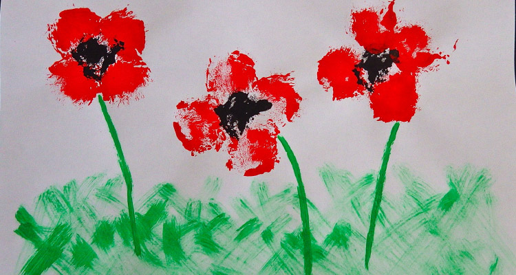 Remembrance Day Poppy Field Craft For Kids My Baba