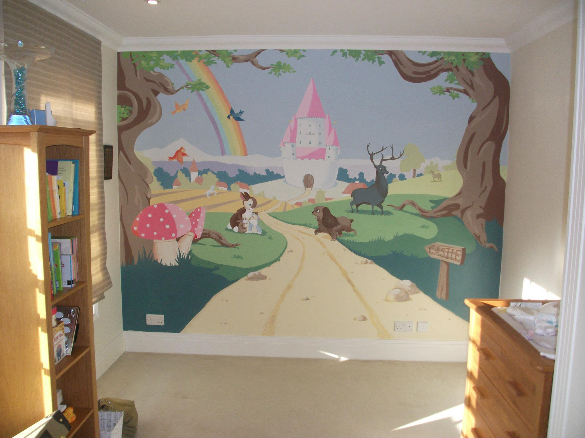 top tips for painting a mural in your child s bedroom my baba lightly sketch out the design on the wall with a pencil you can rub out any mistakes simply and easily if your design is quite complicated then take a