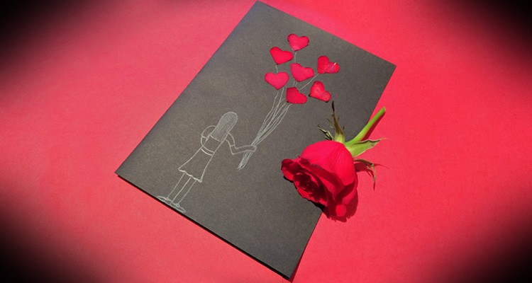 Handmade Valentines Cards with Rose Petals My Baba Parenting Blog – Hand Made Valentine Day Cards