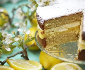 Lorraine Pascale's Lemon Victoria Sandwich with Lemon Curd and Limoncello Filling