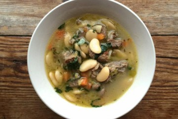 Braised Lamb with Butter Beans Leeks & Mint