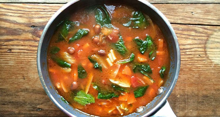 Minestrone with Borlotti Beans and Fennel