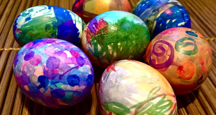 Nanny Anita's Tie-Dye Eggs