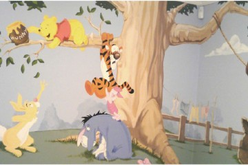 Tops on Painting A Winnie the Pooh Mural