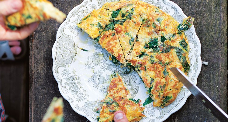 Wild Garlic Frittata by Claire Thomson