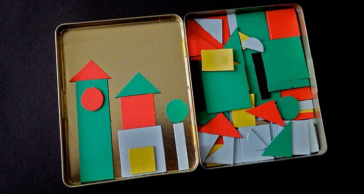 A Diy Magnetic Geometric Shapes Activity For Kids My Baba
