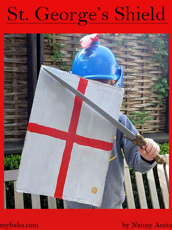 St. George's Shield made from junk cardboard