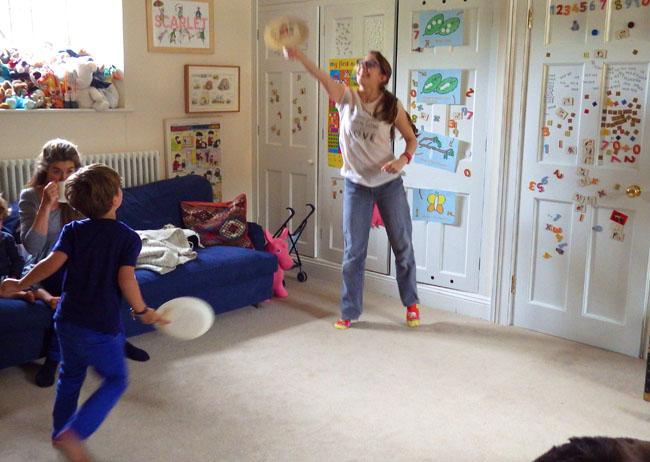 indoor balloon tennis