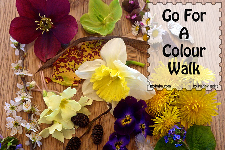 Take your little ones on a colour walk and see how many different colours that you can find.