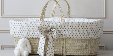 WIN! A Luxury Vintage Print Moses Basket from Piccoli & Co