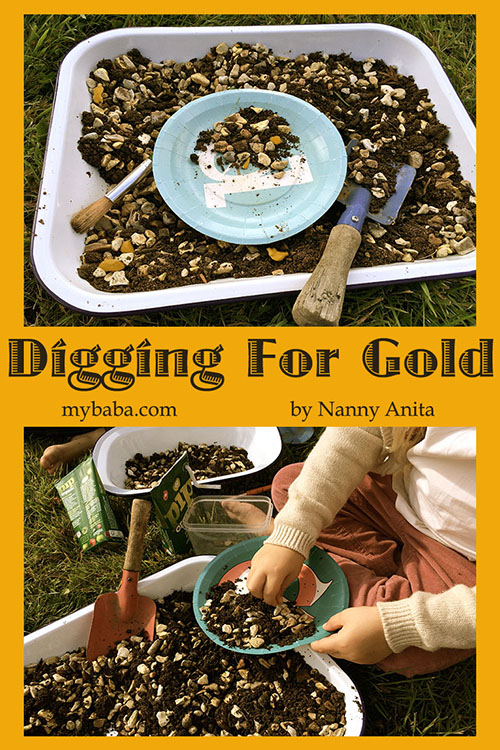 Digging for Gold - recreating the Gold rush for children.