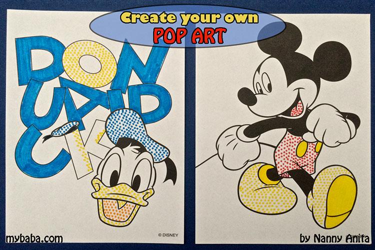 creating our own pop art inspired by Roy Lichtenstein