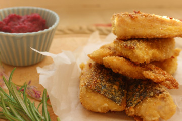 Almond and Polenta Mackerel Fingers