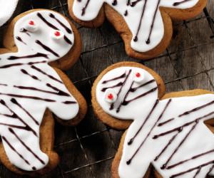 Gingerbread Halloween Biscuits