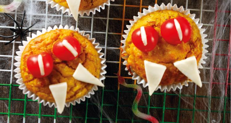 Vampire Pumpkin Muffins